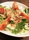 やみつき!5分で水菜と大根の鰹胡麻サラダ