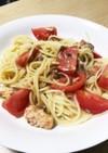 簡単☆さばとトマトの冷製パスタ
