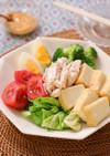 ささみと温野菜の甘辛☆ピーナッツサラダ