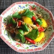 鯖と茸の中華あんかけ