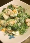 ブロッコリーとえびとゆで卵のサラダ♪