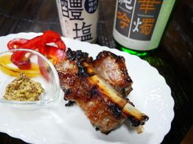 豚のスペアリブの醴塩漬け焼き