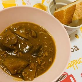 茄子とひき肉のカレー(╹◡╹)