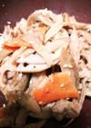 豚肉と根菜のキンピラ