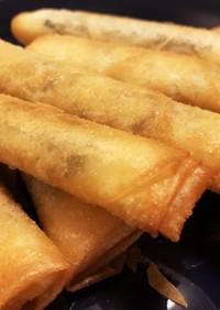ベジ料理☆しそチーズ&海苔チーズ春巻き