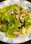 キャベツと豚肉の生姜ポン酢炒め