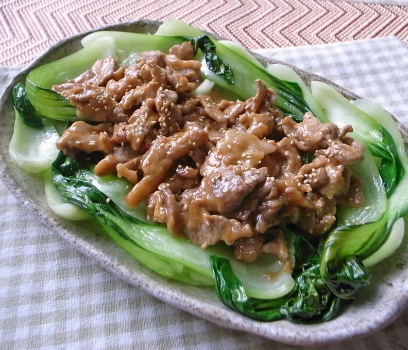 シャキっと青梗菜が美味しい!豚肉炒め