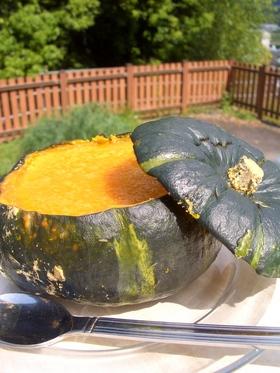 坊ちゃんかぼちゃでまるごとかぼちゃプリン