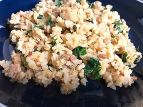 精進料理☆納豆レタス辛味炒飯