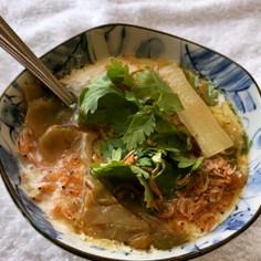 レンジで簡単!台湾風豆乳スープ(鹹豆漿)