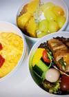 野菜の肉巻きとオムライス弁当