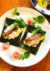 記念日に♡ステーキ肉のサラダ手巻き寿司