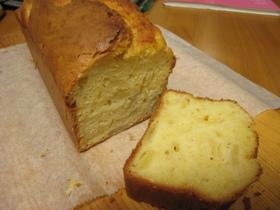 パウンド型でりんごのケーキ