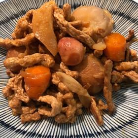 圧力鍋で根菜煮物 ビーガン 精進