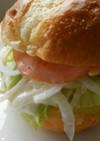 Donqのパンでハムサンドエッグバーガー