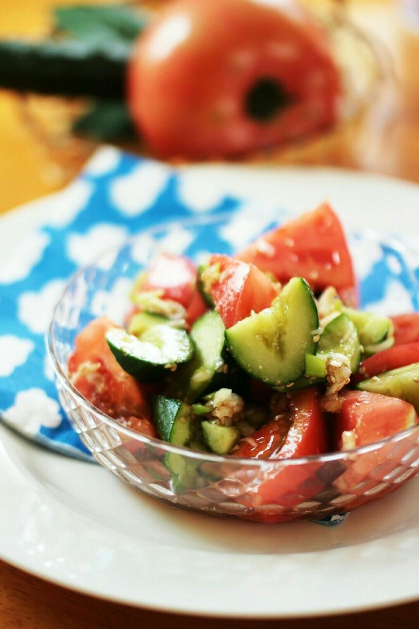 トマトときゅうりのパクパクサラダ