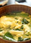 小松菜かき玉汁