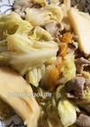 キャベツと豚肉、タケノコの炒め物