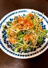 とびっことカイワレ大根のサラダ