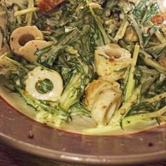 柚子胡椒香る水菜とちくわマヨサラダ