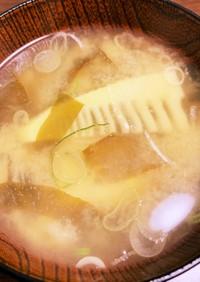 たけのことわかめの味噌汁