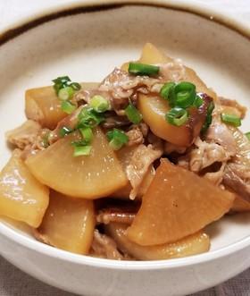 簡単・美味しい♪大根と豚バラの甘辛炒め