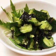 簡単 キュウリと韓国海苔サラダ