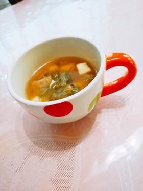 レタスと厚揚げのスープ