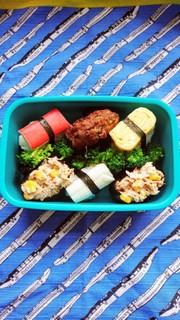 キャラ弁 お寿司弁当の写真