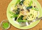 簡単ランチ❇️小松菜クリームパスタ