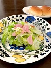 水切りなし!レストランのレタスサラダの写真