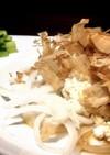 新玉ねぎのカッテージチーズサラダ鰹節乗せ