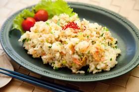 干しエビとネギの卵炒飯⁂簡単パラパラ