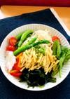 冷やしきつねサラダうどん 米麺ver