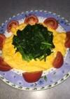 ほうれん草、卵、トマトのサラダ!