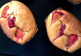 簡単甘さ控え目✨苺たっぷりケーキ