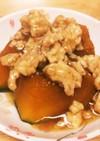 かぼちゃの煮付け(煮物) 挽き肉あんかけ