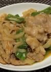 豚バラ薄切り肉のテキトーポークチャップ風