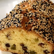 甘納豆とゴマのパウンドケーキ