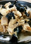 金針菜&黒きくらげ&高野豆腐の卵とじ♪