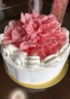 母の日のジャンボカーネーションケーキ