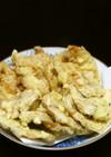 鶏胸肉のシンプル天婦羅+豚生姜焼き天婦羅