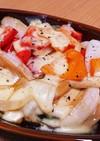 エリンギと玉ねぎ、パプリカのチーズ焼き