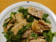 【定番】豚肉と春菊の玉ねぎレモン醤油あえの写真