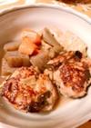 時短、鶏つくねと根菜の煮物、お弁当にも!