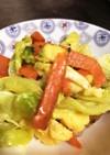 卵で野菜炒め