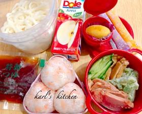 簡単きつねちくわ天ぷら冷やしうどん弁当