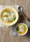 もっちり食感水餃子と春雨のスープ