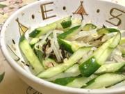 キュウリともやしの簡単サラダの写真