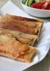 ハムとチーズとキャベツの春巻き